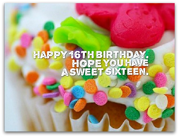 16th Birthday Wishes - Birthday Messages for 16 Year Olds