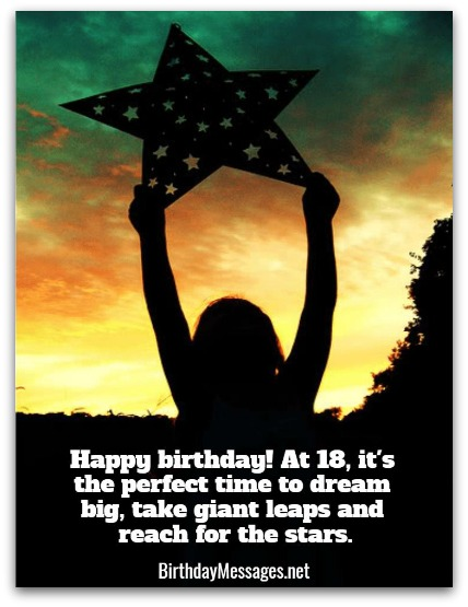 18th Birthday Wishes Birthday Messages for 18 Year Olds – 18th Birthday Card Verses