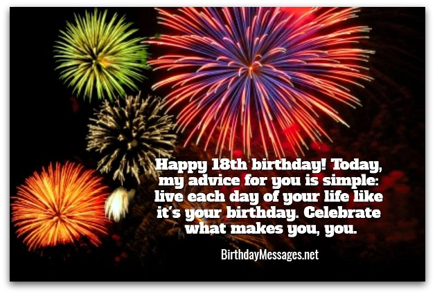 18th Birthday Wishes Birthday Messages for 18 Year Olds – Live Birthday Greetings
