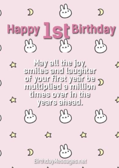 1st Birthday Wishes Quotes November 30 2019 16