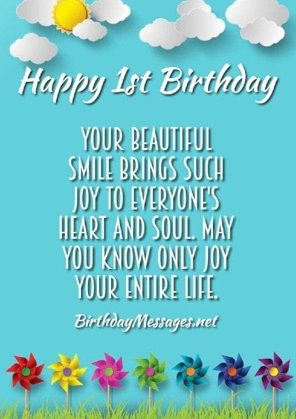 1st Birthday Wishes Quotes November 30 2019 2