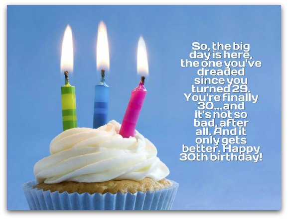 30th Birthday Wishes - Birthday Messages for 30 Year Olds