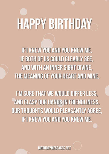 Birthday Poems - Beautifully Written Poems for Birthdays