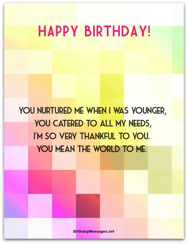 Sentimental Birthday Poems: Sentimental Birthday Messages