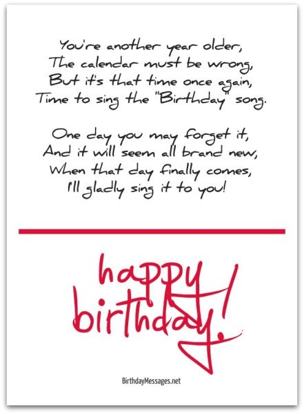 Cute Birthday Poems - Cute Birthday Messages