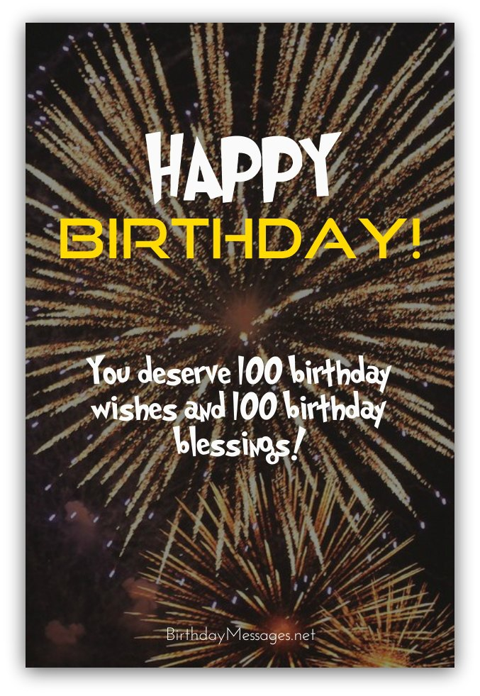100th Birthday Wishes–Birthday Messages for 100 Year Olds