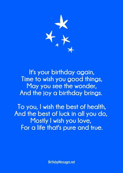 Poems Original Poems for Birthdays – Birthday Greeting Poems