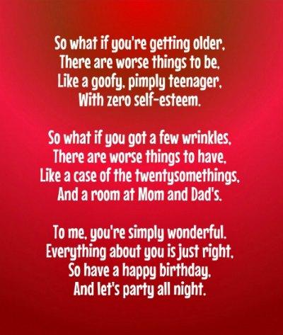 Very Poems - Original Poems for Birthdays AR17