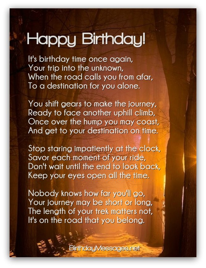 Clever Birthday Poems Clever Poems For Birthdays