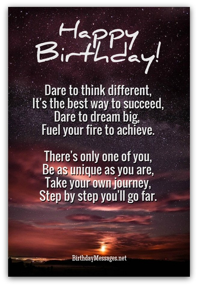 Inspirational Birthday Poems Unique Poems for Birthdays – Birthday Greeting Poems