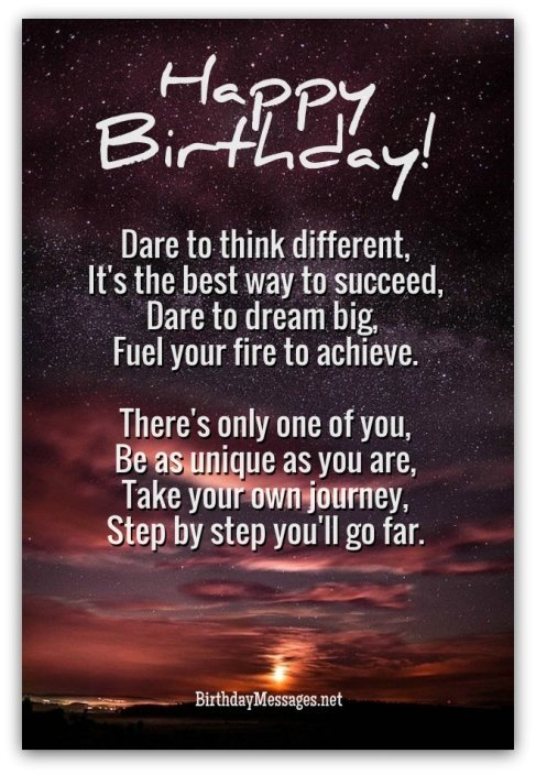 Inspirational Birthday Poems - Inspirational Poems for Birthdays