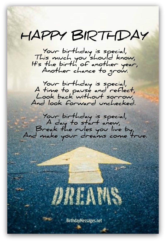 Inspirational Friend Birthday Quotes : Inspirational birthday poems page