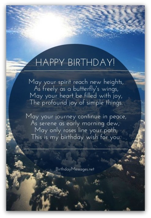 inspirational birthday poems inspirational poems for birthdays
