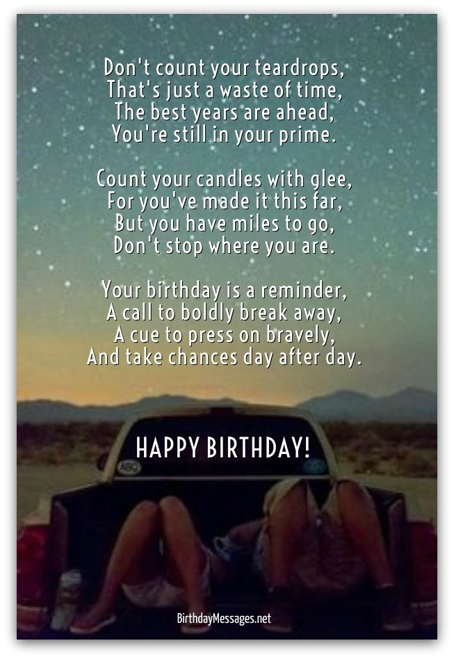 Inspirational Birthday Poems Page 3