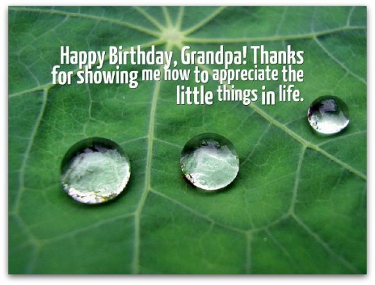 Birthday Wishes for Grandfathers