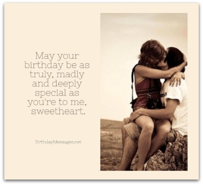 Girlfriend Birthday Wishes - Romantic Birthday Messages