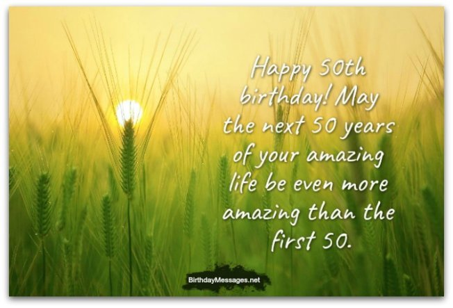 50th Birthday Wishes - Birthday Messages for 50 Year Olds