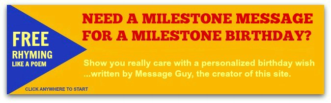Personalized Birthday Wishes - Milestone Birthday Messages