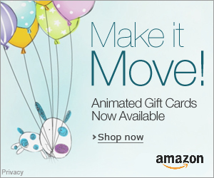Animated Gift Cards from Amazon