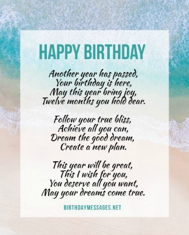 Birthday Poems - Hundreds of Unique Poems for Birthdays