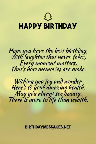 Birthday Poems Heartfelt Humorous Happy Birthday Poems