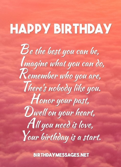 Birthday Poems Heartfelt Humorous Happy Birthday Poems | cute birthday messages for a friend. birthday poems heartfelt humorous