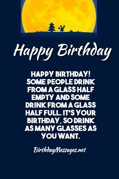 Funny Birthday Toasts Funny Birthday Messages For Toasts