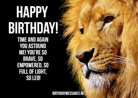 Leo Birthday Wishes: 240 Astrology Birthday Wishes