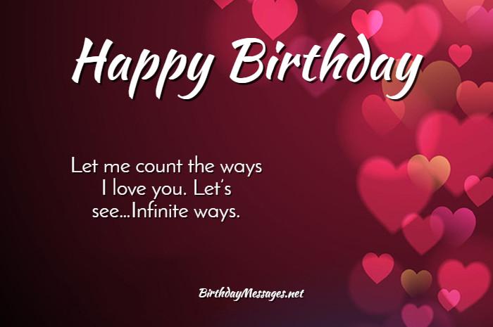 Romantic Birthday Wishes Birthday Quotes Birthday Messages