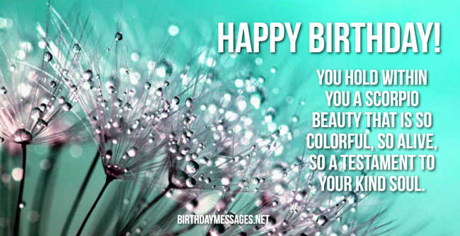 Scorpio Birthday Wishes: 240 Astrology Birthday Messages