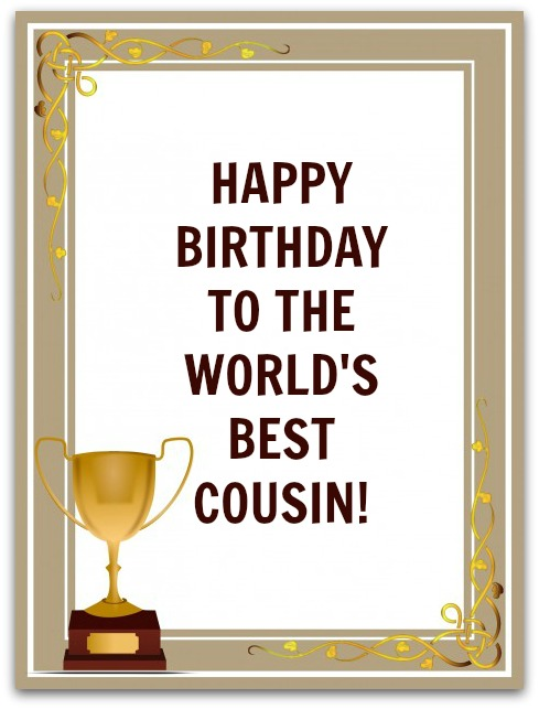 Cousin Birthday Wishes Birthday Messages for Cousins – Birthday Greeting to a Cousin