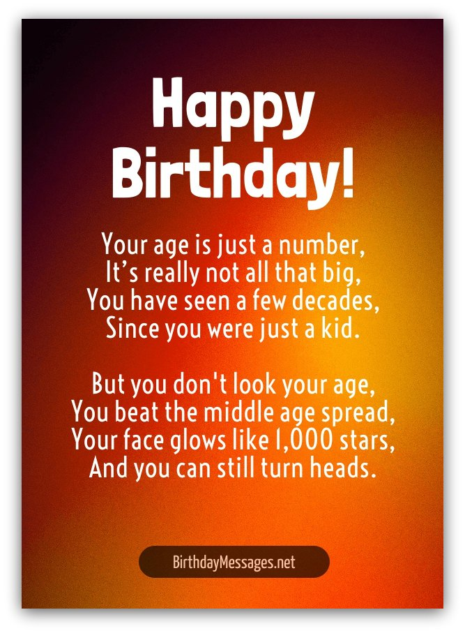 Fabulous Cute Birthday Poems Cute Birthday Messages Funny Birthday Cards Online Fluifree Goldxyz
