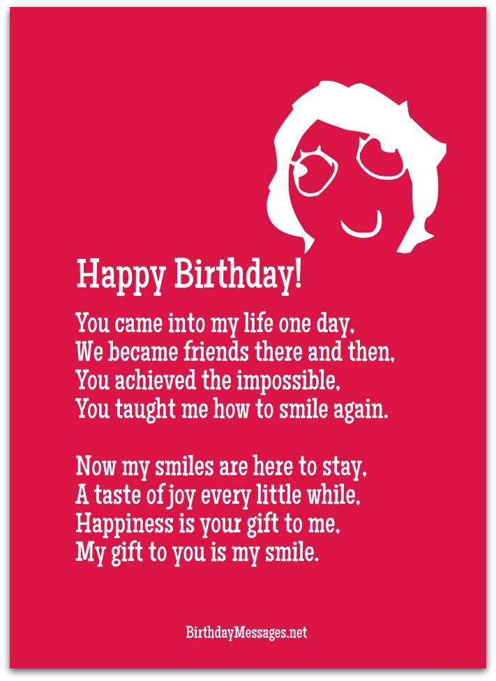 Cute Birthday Poems Cute Birthday Messages - Impossible poem