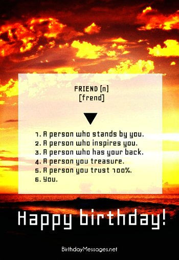 Birthday Messages For Friends Download Free Postcard