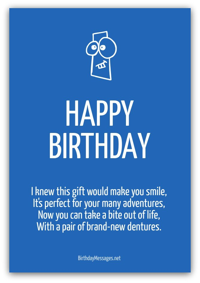 Funny Birthday Poems on Short Funny Quotes About Aging