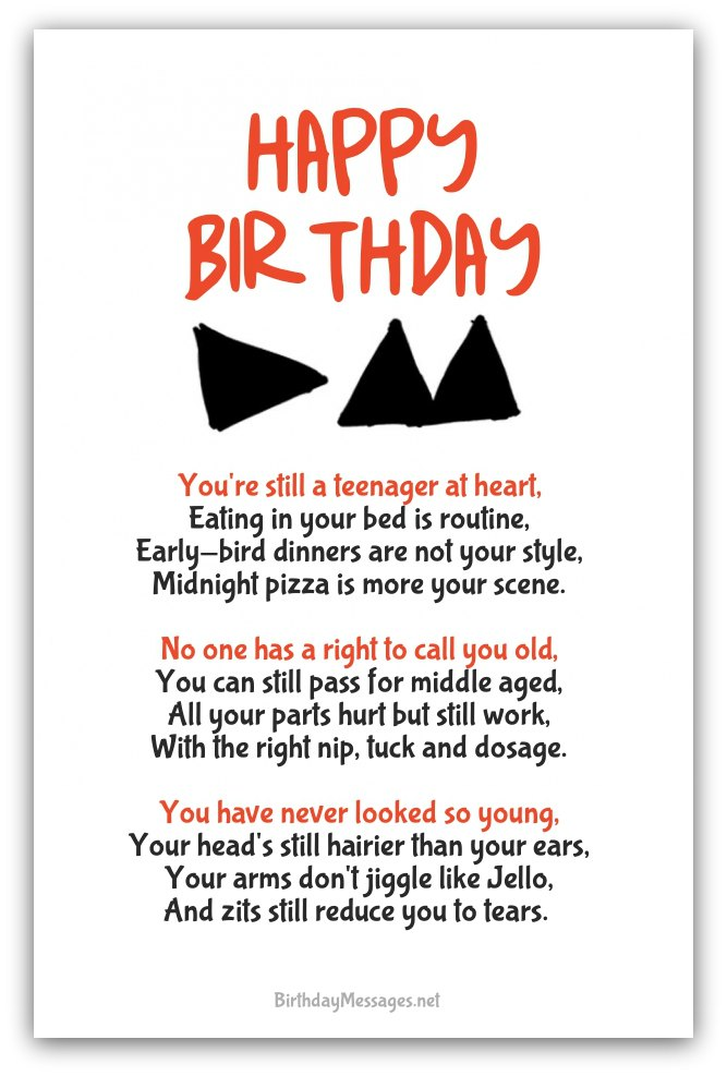 Funny Birthday Poems Funny Birthday Messages – Comical Birthday Greetings