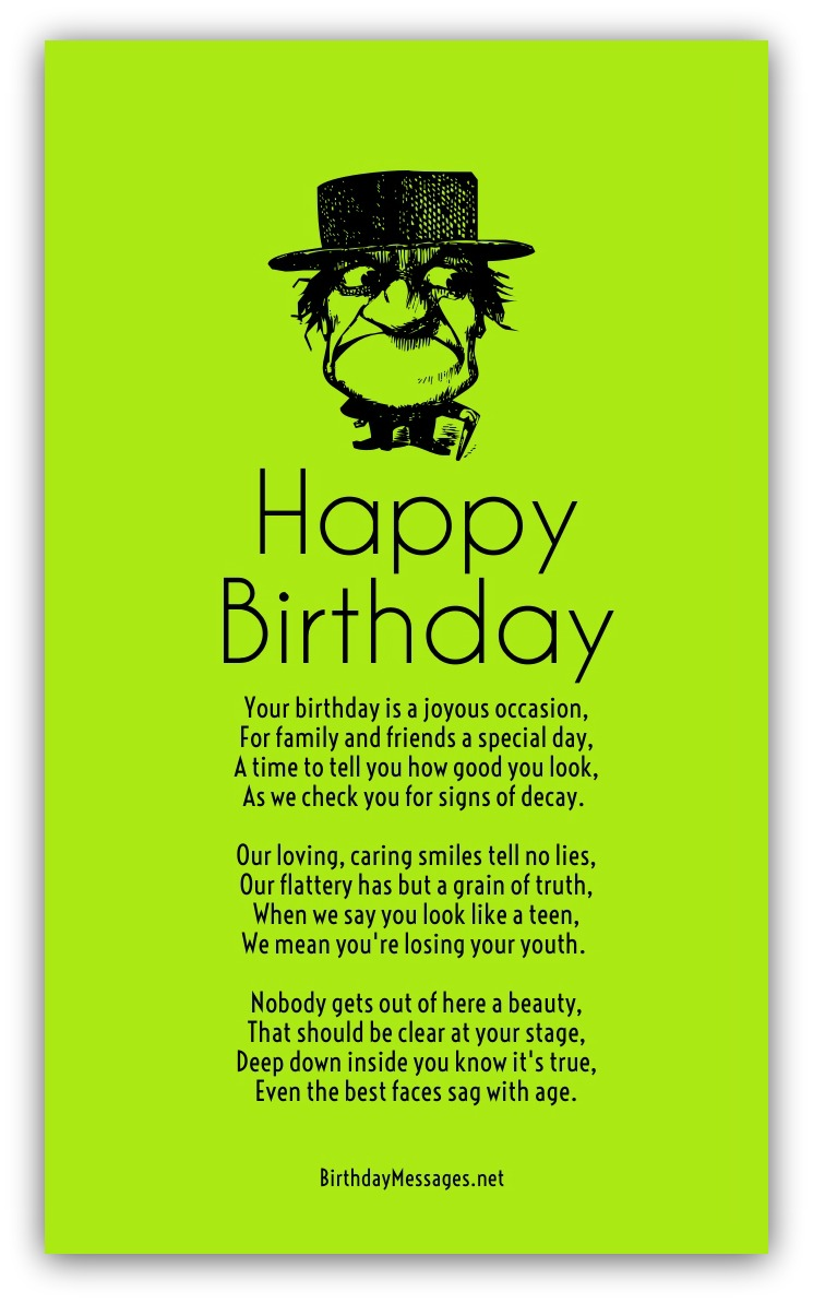 Funny Birthday Poems - Page 2