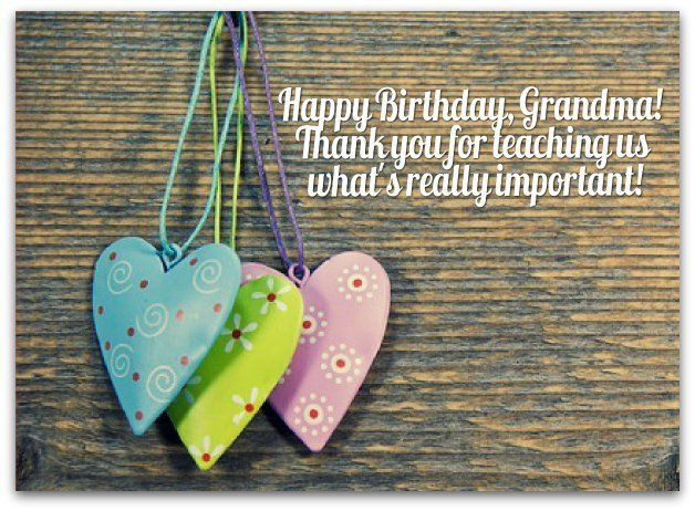 Birthday Wishes for Grandmothers