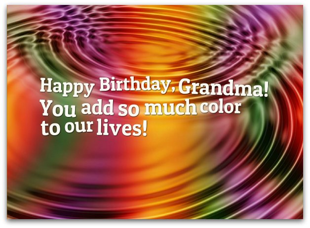 Grandma Birthday Wishes - Birthday Messages for Grandmothers
