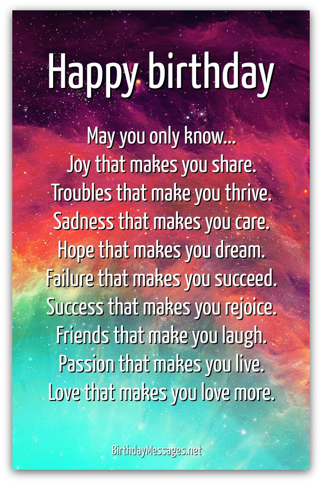 inspirational birthday poems page