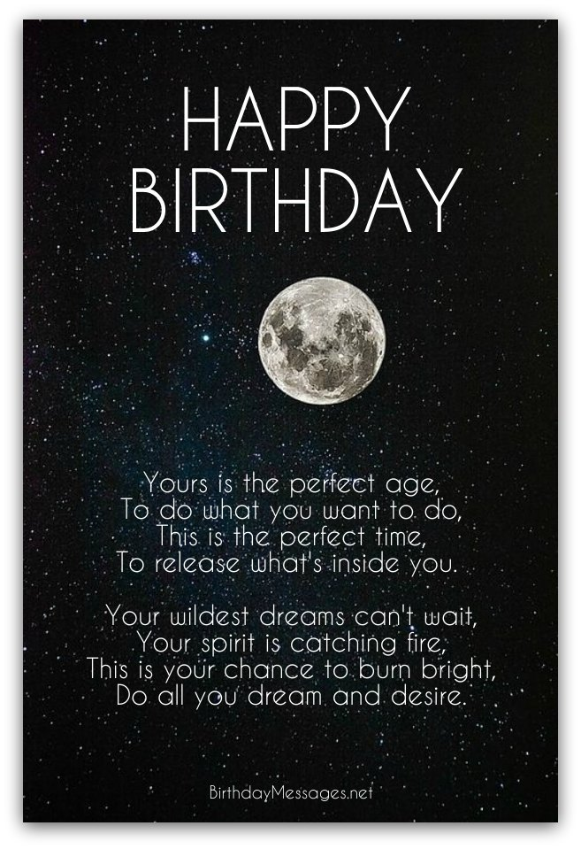 Inspirational birthday poems page 4 for What should you get a guy for his birthday