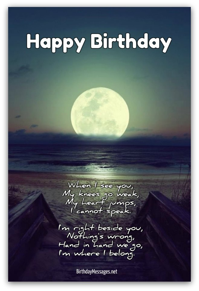 Romantic Birthday Poems Messages