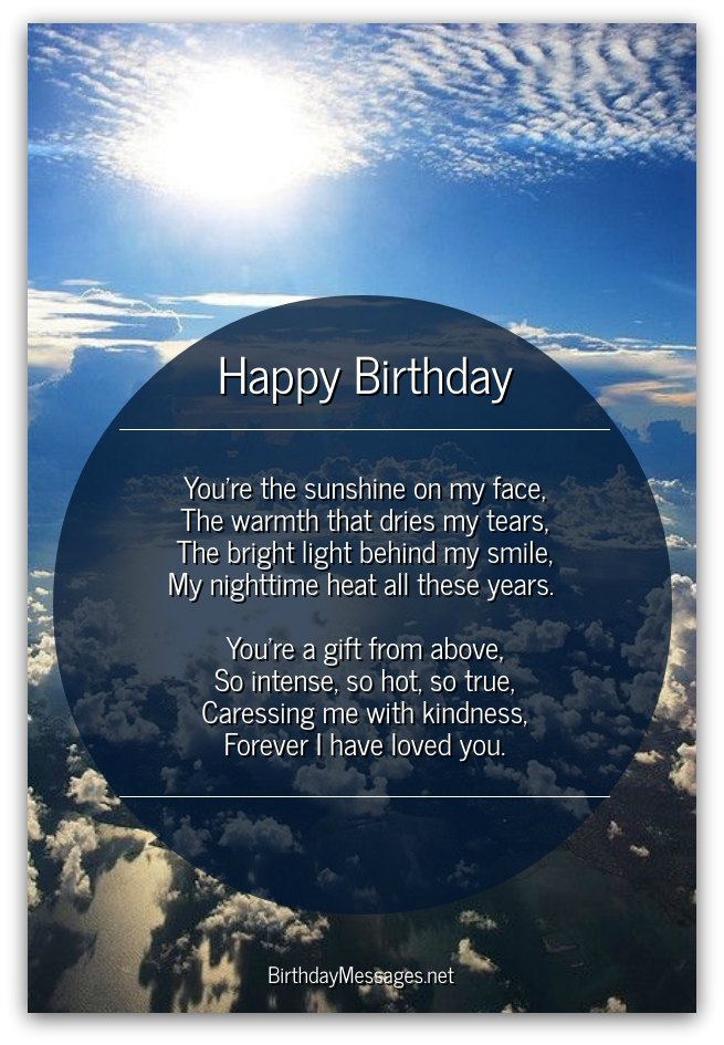 Check Out The Romantic Birthday Poems Below