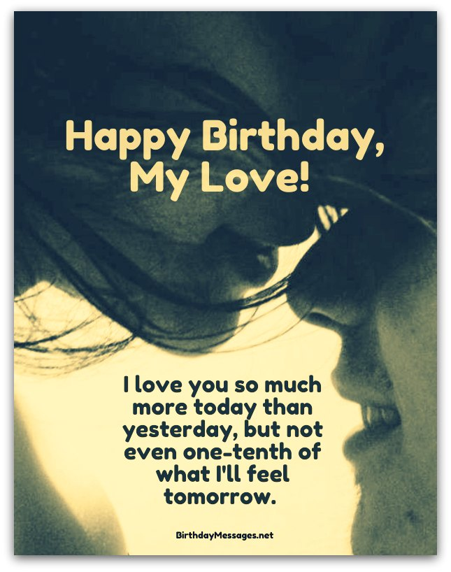 Love Birthday Quotes Stunning Romantic Birthday Wishes  Birthday Messages For Lovers