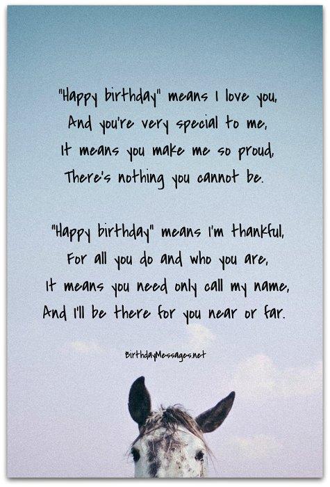 Sentimental Birthday Poems: Sentimental Birthday Messages