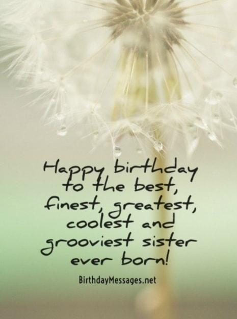 Sister Birthday Wishes Birthday Messages for Sisters – Birthday Greeting for Sister