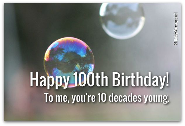 100th Birthday Wishes Birthday Messages for 100 Year Olds – 100 Birthday Card