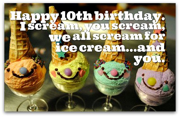 10th Birthday Wishes - Birthday Messages for 10 Year Olds