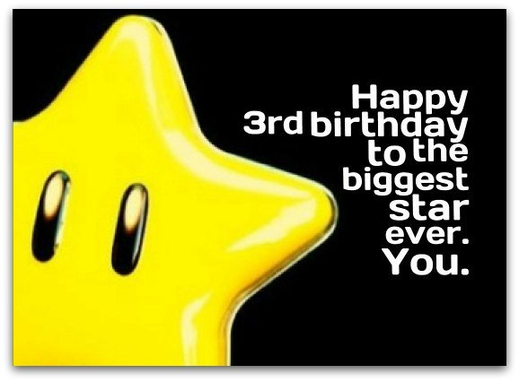 3rd Birthday Messages - Birthday Wishes for 3 Year Olds