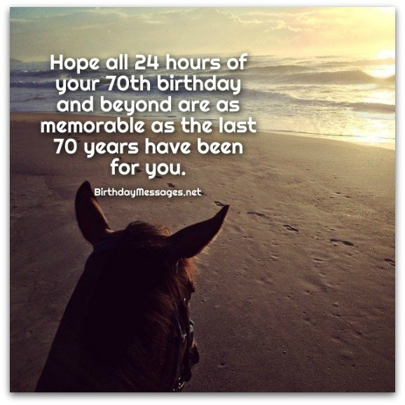 70th Birthday Wishes - Birthday Messages for 70 Year Olds